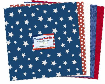 10in Squares Yankee Doodle 24pcs
