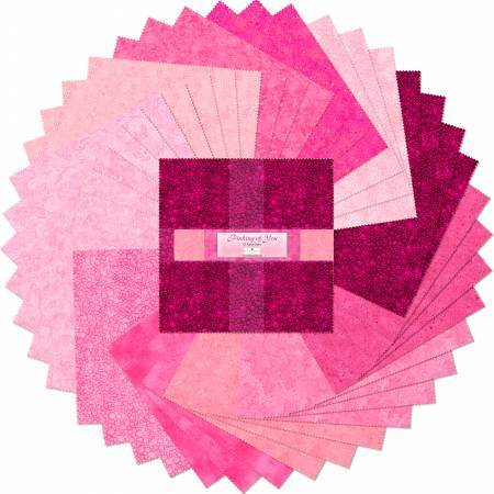 10in Squares Pinking Of You 42pcs/bundle