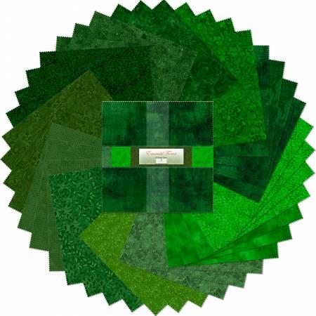 10in Squares Emerald Forest 42pcs/bundle, 4 bundles per pack