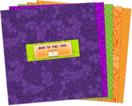 10in Squares Essential Gems Boo To You Too 42pcs