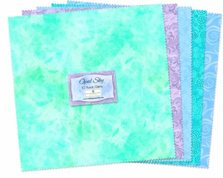 10in Squares Essential Gems Opal Sky 42pcs