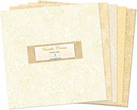 10in Squares Vanilla Cream 42pcs/bundle, 4 bundles per pack