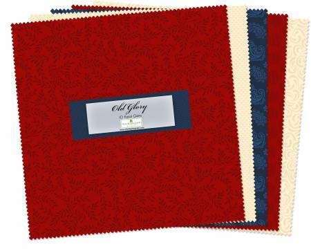 10in Squares Essential Gems Old Glory 42pcs, 4 bundle/pack