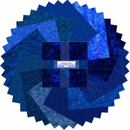 10in Squares Sapphire Sky 42pcs/bundle, 4 bundles per pack