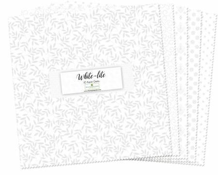 10in Squares Essential Gems White-Lite, 242pcs, 4 bundles per pack