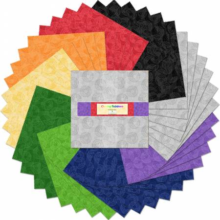 10in Squares Chasing Rainbows, 42pcs Q51257512