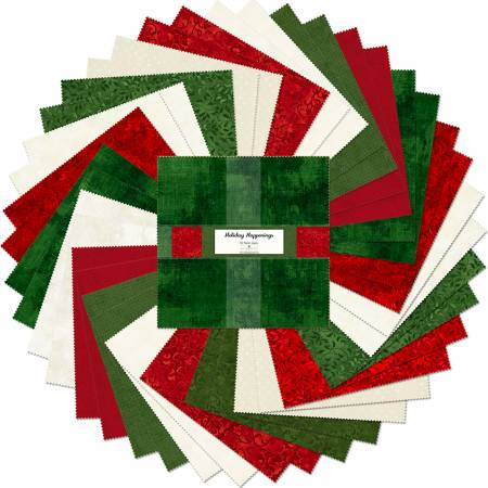 Essential Gems Holiday Happenings, 10-inch Squares, 42pcs