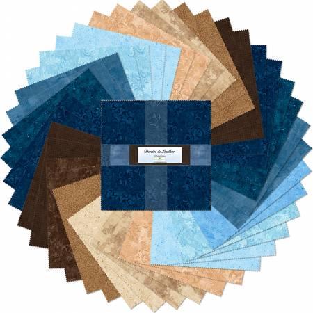 Layer Cake 10 Fabric precuts: Denim & Leather