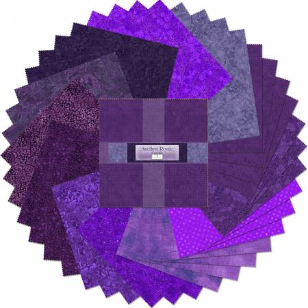 10in Squares Amethyst Royale 42pcs/bundle