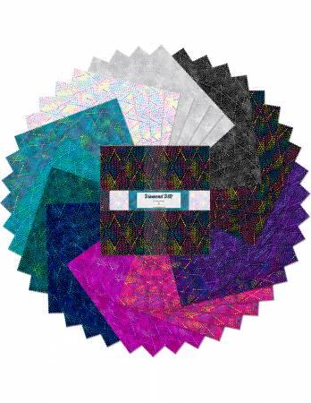 10in Squares Essentials Diamond Dots, 42pcs