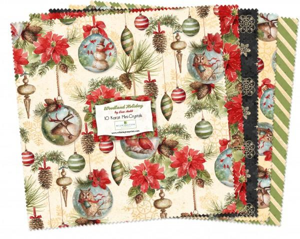 10in Squares Woodland Holiday 24pcs
