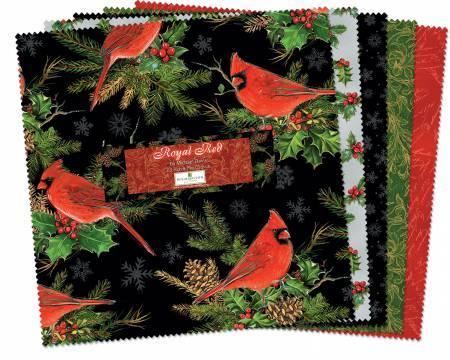 10in Squares Royal Red 24pcs/bundle