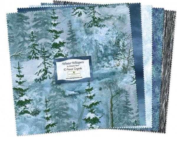 10in Squares Winter Whispers 42pcs/bundle, 4 bundles/pack