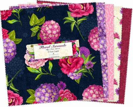 Fabric Wilmington 10in Squares Floral Serenade 42pcs