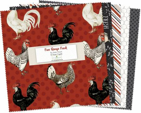 10in Squares Free Range Fresh, 42pcs, 4 bundles per pack