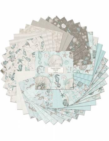 10in Squares, Coastal Wishes, 42pcs, 4 bundles per pack