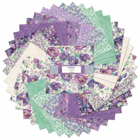 10in Squares Violette, 42pcs