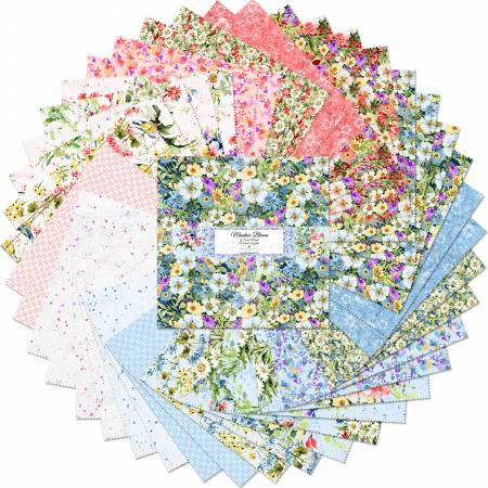 10in Squares Meadow Bloom, 42pcs