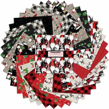 10in Squares Gnome-antics, 42pcs, 4 bundles/pack