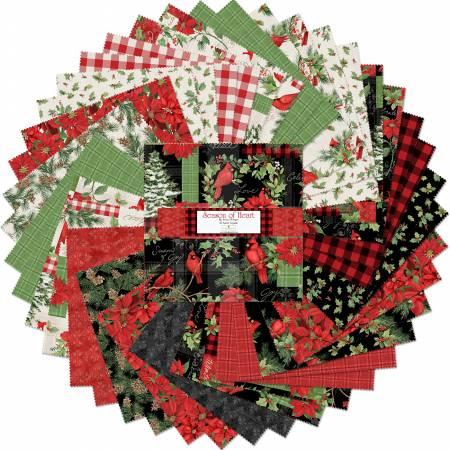 10in Squares Season of Heart, 42pcs,
