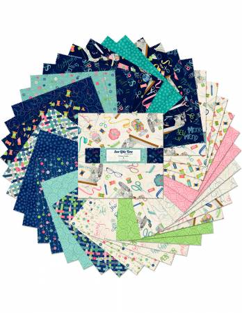 10in Squares Sew Little Time, 42pcs, 4 bundles/pack