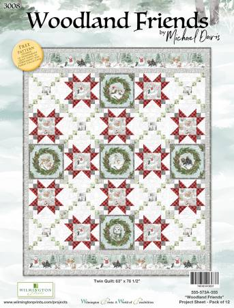 Woodland Friends Twin Quilt Kit
