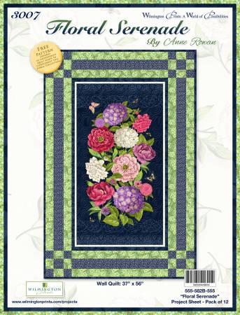 Project Sheet Floral Serenade Wall Hanging  Q555-582B-555