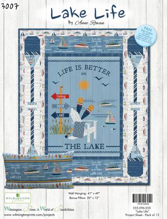 Lake Life Quilt and Pillow Kit, incl binding
