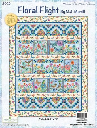 Floral Flight Quilt Kit