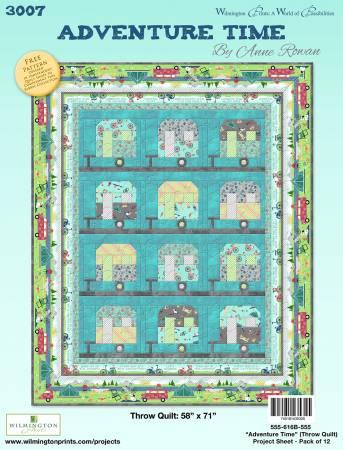 Adventure Time Pattern - Throw Quilt 58 x 71