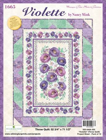 Project Sheet Violette Throw Quilt, 12/pack, 1 pack per store