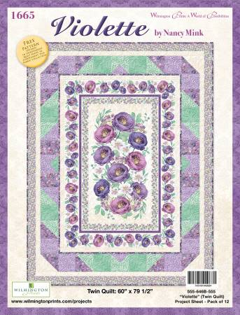 Project Sheet Violette Twin Quilt, 12/pack, 1 pack per store