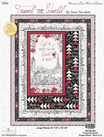Project Sheet: Travel the World Quilt Pattern - 57 1/2 x 75 1/2