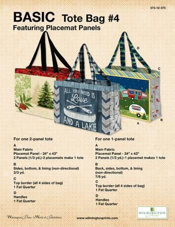Basic Tote Bag Pattern Using Placemat Panels