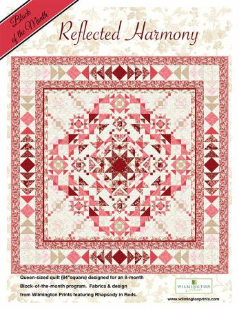 Reflected Harmony 84in Square Queen Size Quilt Kit