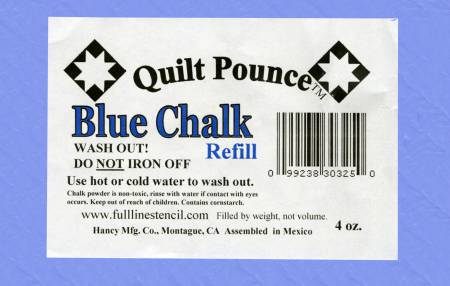 Stencil Chalk Refill for Quilt Pounce Pad Blue - 8