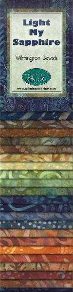 2-1/2in Strips Light My Sapphire Batik 24pcs