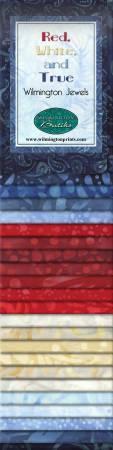 2-1/2in Strips Jewel Red White & True 24pcs/bundle