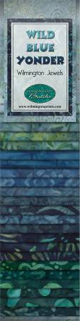 Wild Blue Yonder Jewels 2 1/2 strips 40 pcs