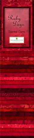 Essential Gems Ruby Days 24pcs 2-1/2in x 44in Strips 6 Packages