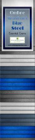 2-1/2in Strips Ombre Washart Blue Steel 24pcs, 6 bundles per pack