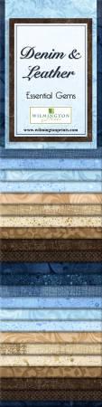 2-1/2in Strips Essential Gems Denim & Leather, 24pcs,