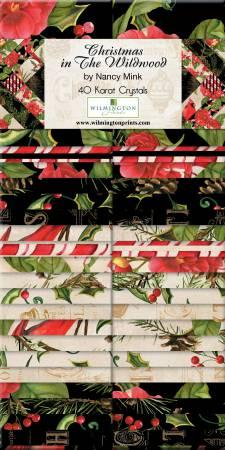 2-1/2in Strips Christmas in The Wildwood 40pcs/bundle, 4 bundles per pack