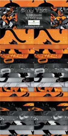 2-1/2in Strips Spooky Vibes 40pcs/bundle