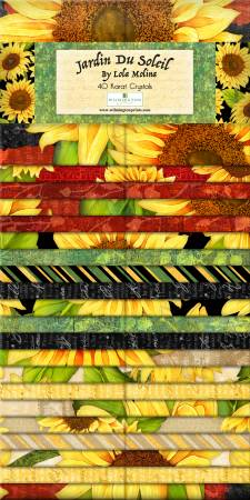 2-1/2in Strips Jardin Du Soleil, 40pcs, 4 bundles/pack