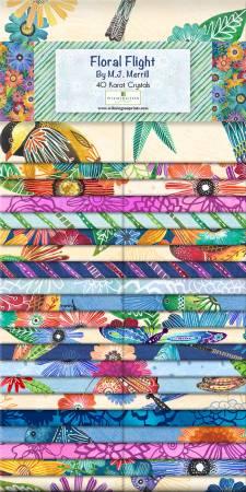2-1/2in Strips Floral Flight, 40pcs