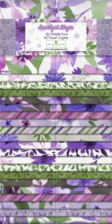 2-1/2in Jelly Roll Strips Amethyst Magic, 40pcs