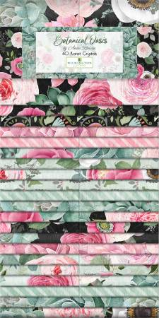 2-1/2in Strips Botanical Oasis, 40pcs