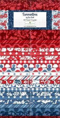 2-1/2in Strips, Summertime, 40pcs, 4 bundles per pack
