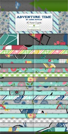 2-1/2in Strips, Adventure Time, 40pcs, 4 bundles per pack